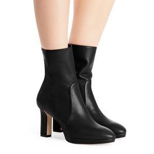 Stuart Weitzman Rosalind Leather Mid Calf Boots